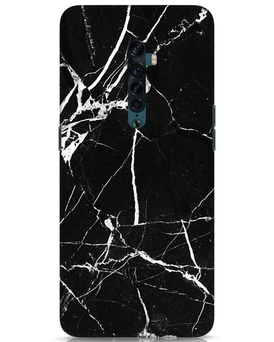 Shop Black Marble Oppo Reno 2 Mobile Cover-Front