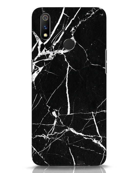 Shop Black Marble Realme 3 Pro Mobile Cover-Front
