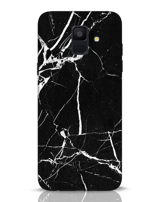 Shop Black Marble Samsung Galaxy A6 2018 Mobile Cover-Front
