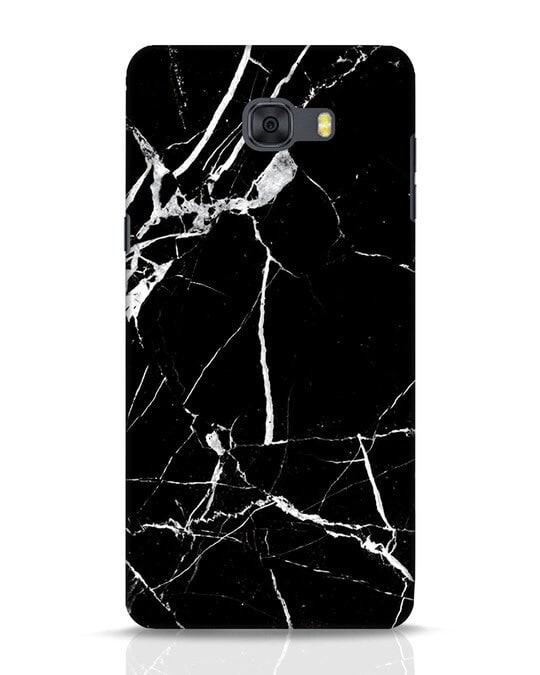 Shop Black Marble Samsung Galaxy C9 Pro Mobile Cover-Front