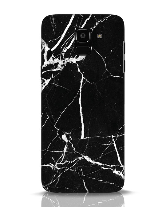 Shop Black Marble Samsung Galaxy J6 Mobile Cover-Front