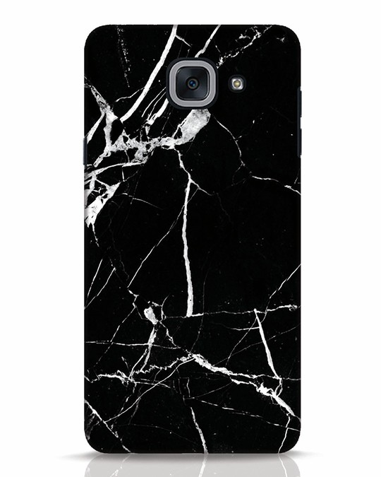 Shop Black Marble Samsung Galaxy J7 Max Mobile Cover-Front
