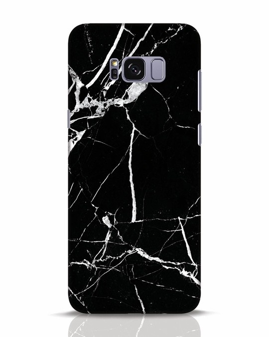 Shop Black Marble Samsung Galaxy S8 Plus Mobile Cover-Front