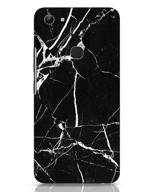 Shop Black Marble Vivo Y81 Mobile Cover-Front