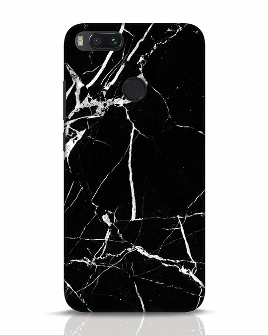 newest 048a2 678ec Black Marble Xiaomi Mi A1 Mobile Cover