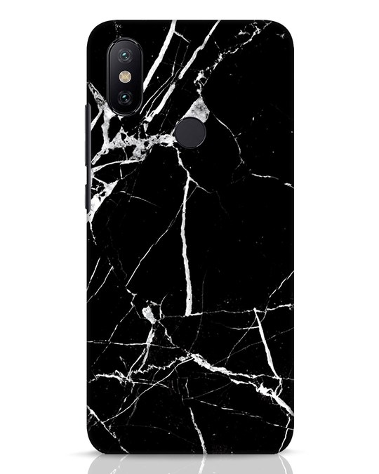 Shop Black Marble Xiaomi Mi A2 Mobile Cover-Front