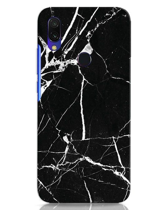 Shop Black Marble Xiaomi Redmi 7 Mobile Cover-Front
