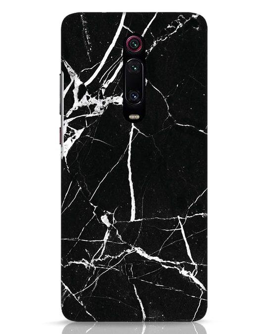 Shop Black Marble Xiaomi Redmi K20 Mobile Cover-Front