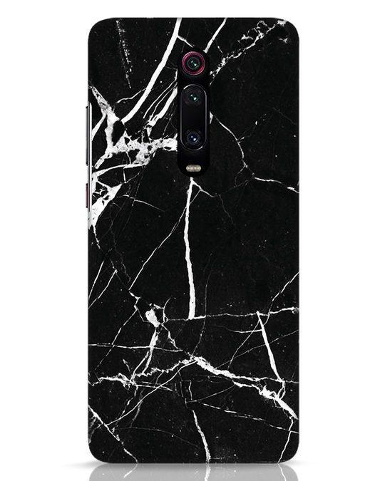 Shop Black Marble Xiaomi Redmi K20 Pro Mobile Cover-Front