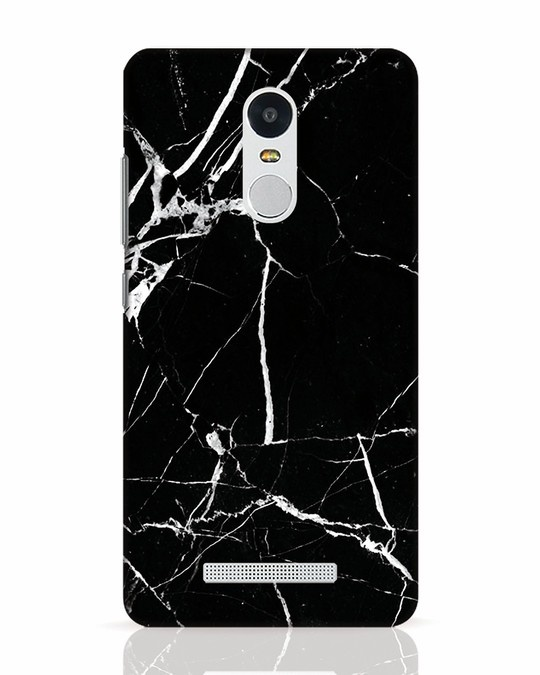 Shop Black Marble Xiaomi Redmi Note 3 Mobile Cover-Front