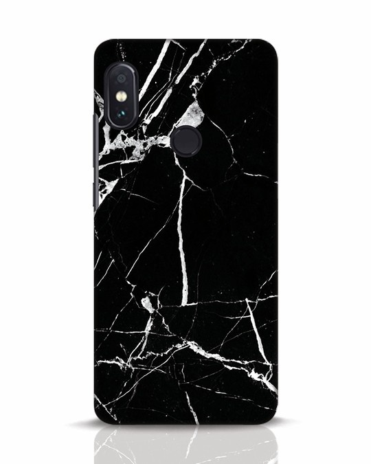 Shop Black Marble Xiaomi Redmi Note 5 Pro Mobile Cover-Front