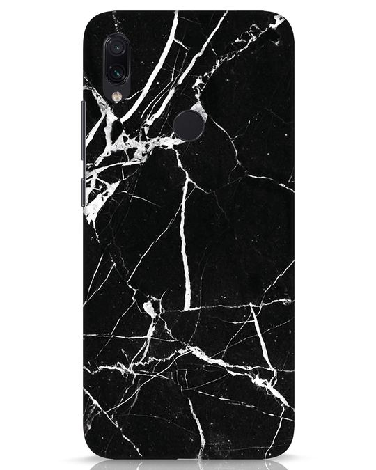 Shop Black Marble Xiaomi Redmi Note 7s Mobile Cover-Front