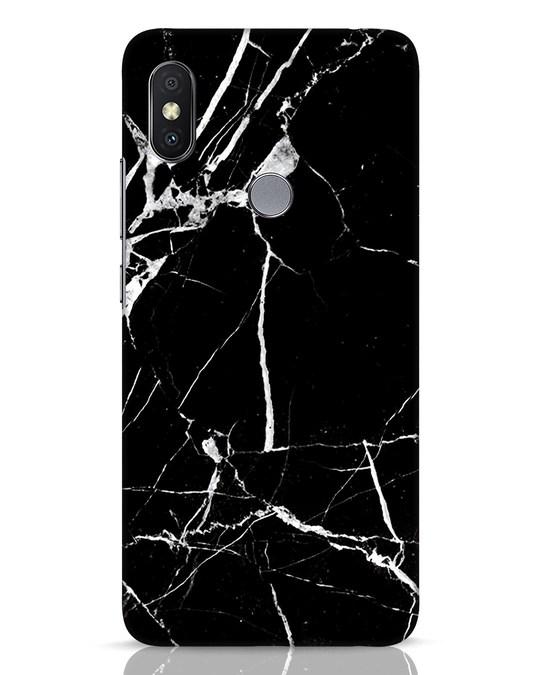 Shop Black Marble Xiaomi Redmi Y2 Mobile Cover-Front