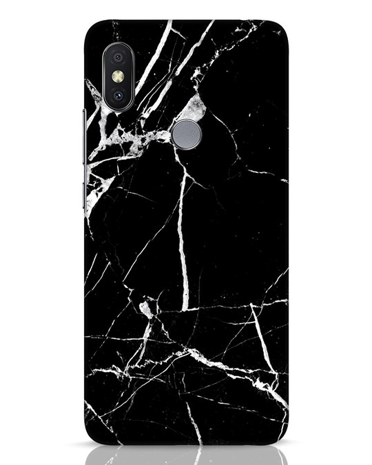 Shop Black Marble Xiaomi Redmi Y2 Mobile Cover-Front