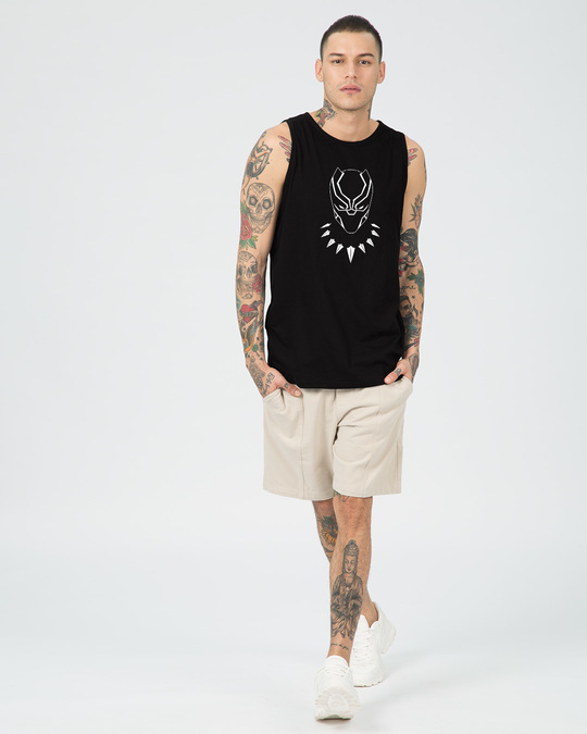 Shop Black Mask Vest (AVL) (GID)-Full