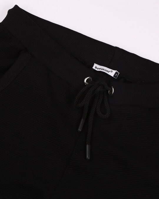 Shop Black Men's Plain Casual Jogger With Elastic at Ankle