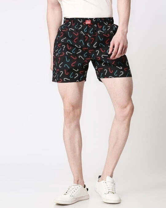 Shop Men All Over Printed Boxers-Back