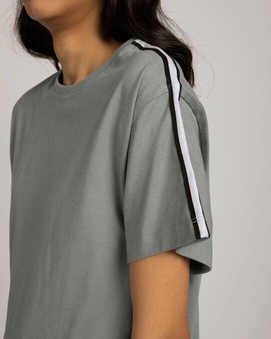 Shop Black N White Side Panel Boyfriend T-Shirt