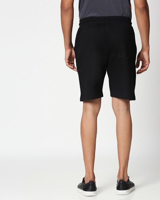 Shop Black-Neon Lime Reflector Shorts-Design