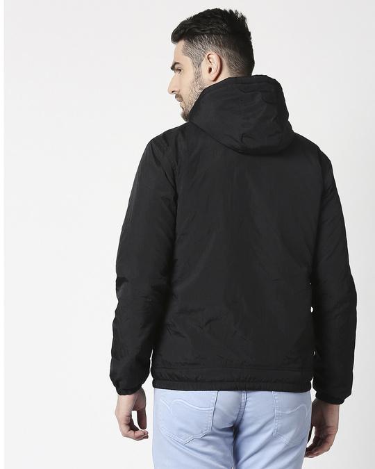 Shop Black Chest Stripe Jacket-Full