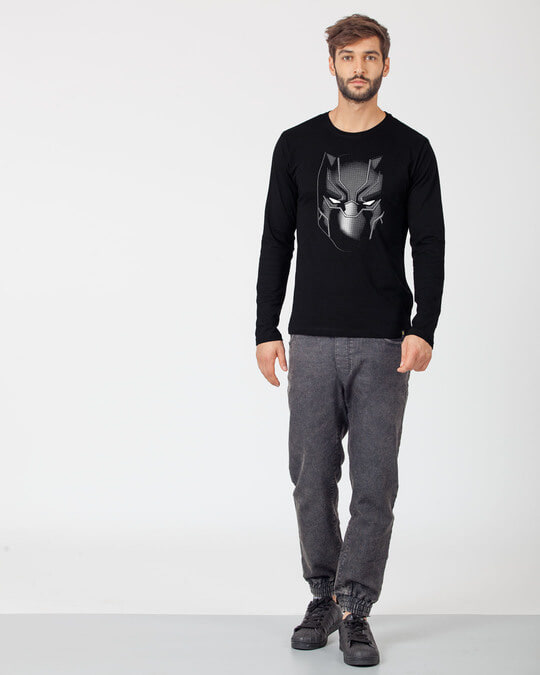 Shop Black Panther Face Full Sleeve T-Shirt (AVL)-Full