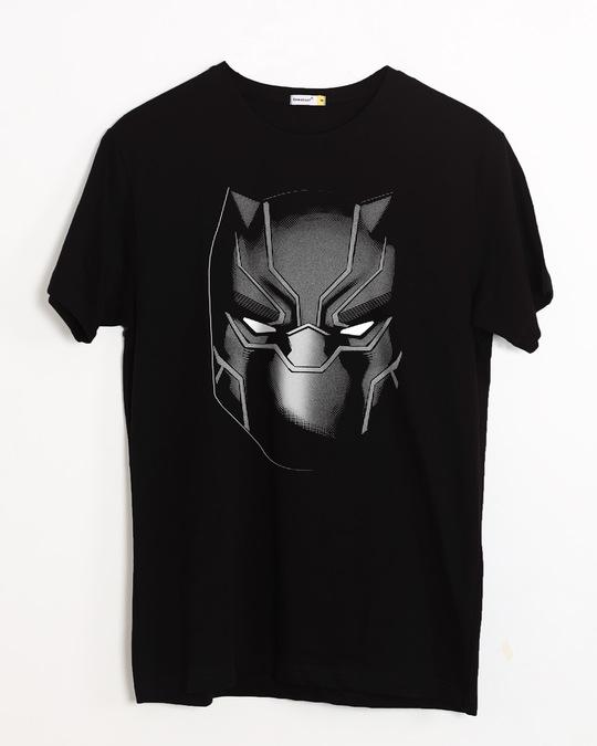 Shop Black Panther Face Half Sleeve T-Shirt (AVL)-Front
