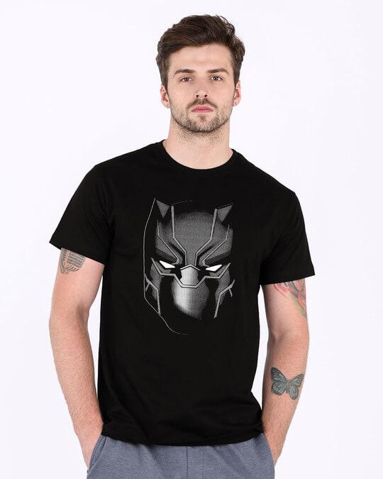 Shop Black Panther Face Half Sleeve T-Shirt (AVL)-Back
