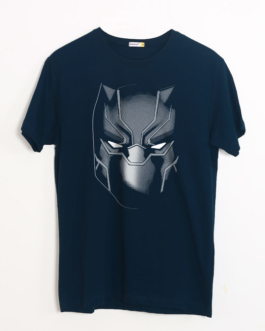 Shop Black Panther Face Half Sleeve T-Shirt (AVL)-Front