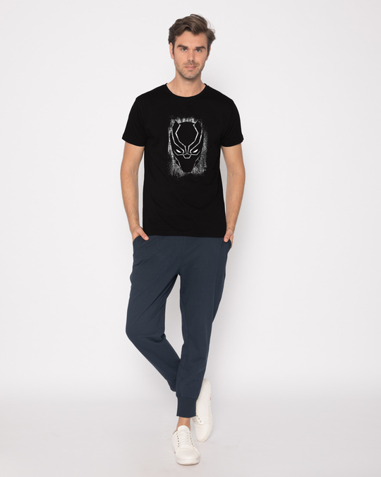Shop Black Panther Grunge Half Sleeve T-Shirt (AVL)