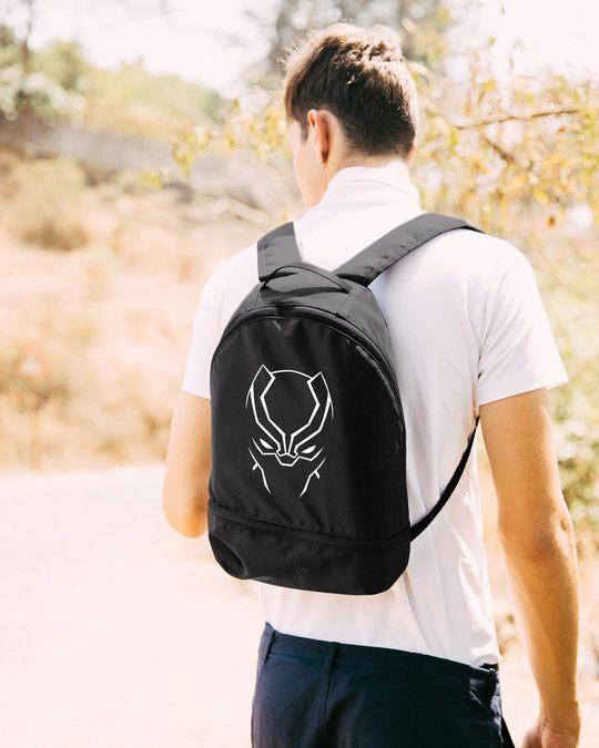 Shop Black Panther Minimal Essential Mini Backpack (AVL) (GID)
