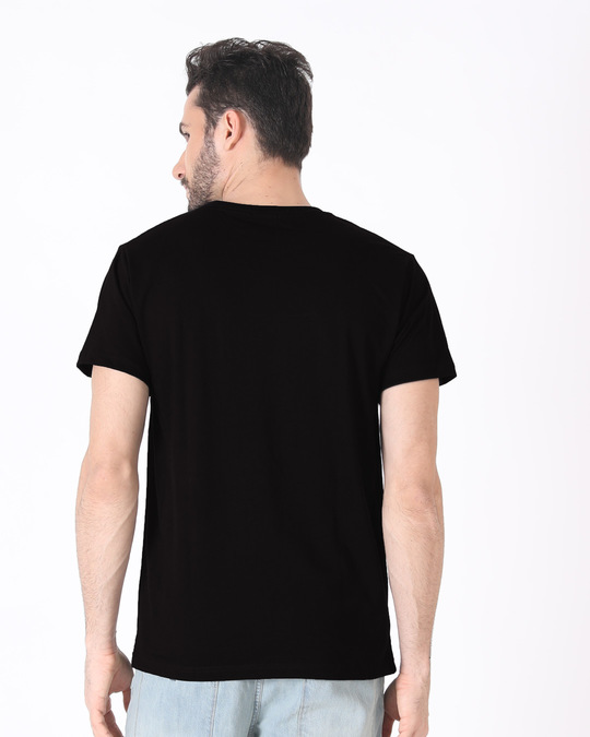Shop Black Panther Minimal Half Sleeve T-Shirt (AVL) (GID)-Full