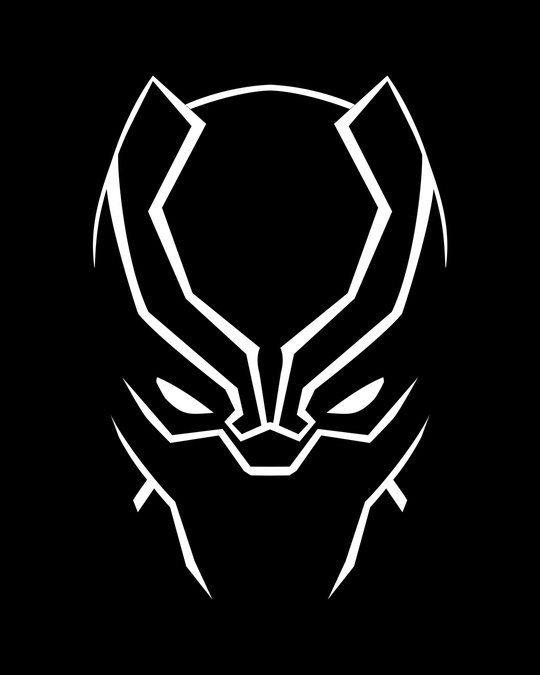 Shop Black Panther Minimal Half Sleeve T-Shirt (AVL) (GID)