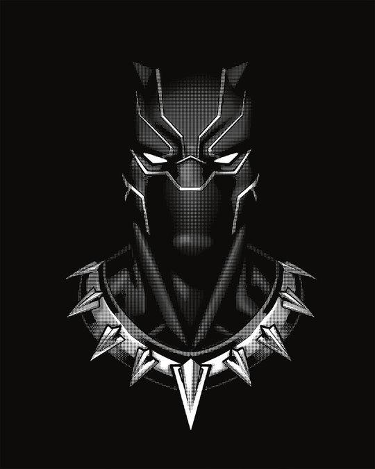 Shop Black Panther Of Wakanda Boyfriend T-Shirt (AVL) (GID)