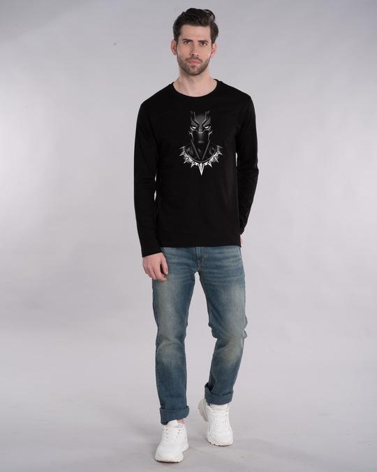 Shop Black Panther Of Wakanda Glow In Dark Full Sleeve T-Shirt (AVL) -Full