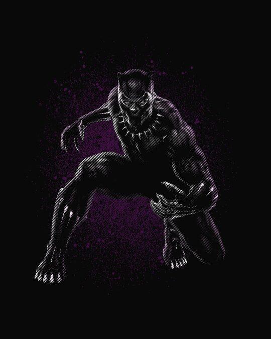Shop Black Panther Purple Boyfriend T-Shirt (AVL)-Full