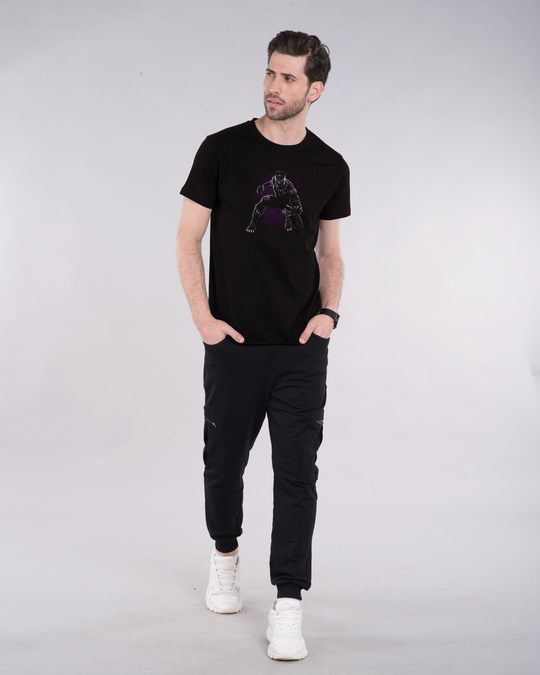 Shop Black Panther Purple Half Sleeve T-Shirt (AVL)-Design