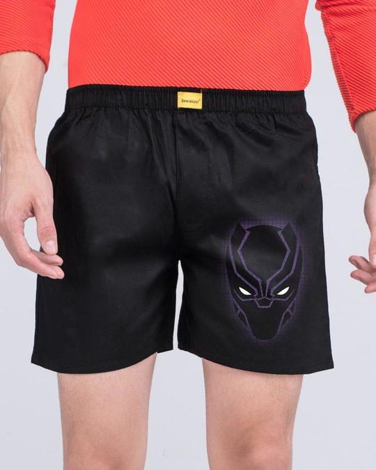 Shop Black Panther Side Printed Boxer (AVL)-Back