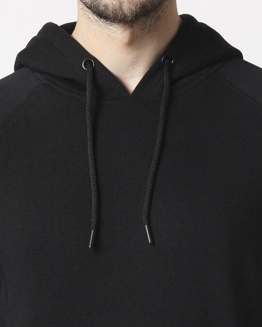Shop Black Stylised Panel Hoodie Sweat Shirt