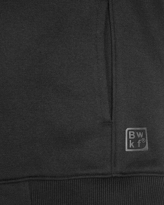 Shop Black Sports Trim Zipper Hoodie