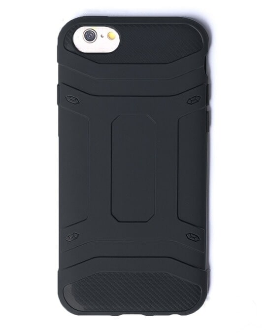 Shop Black Solid iPhone 6 Defender Silicon Mobile Covers-Back