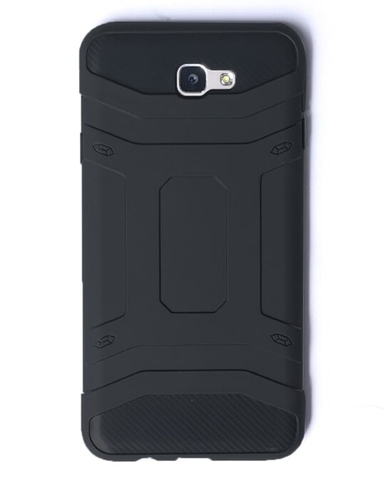 Shop Black Solid Samsung Galaxy J7 Prime Defender Silicon Mobile Covers-Back