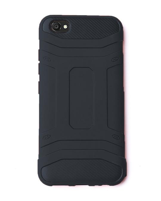 Shop Black Solid Vivo V5 Plus Defender Silicon Mobile Covers-Front