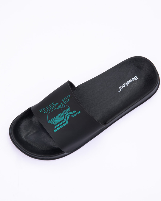 Shop Black Spidey (FFHL) Lightweight Men's Slider Black-Design