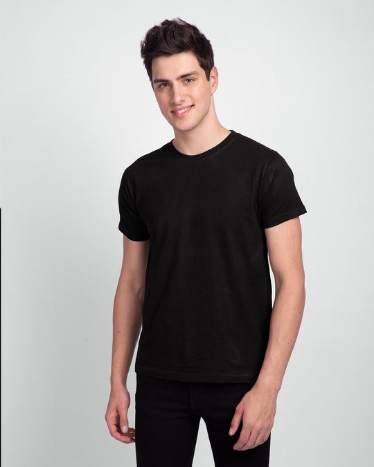Shop Men's Half Sleeve Pack of 2 (Black & Blue)-Back