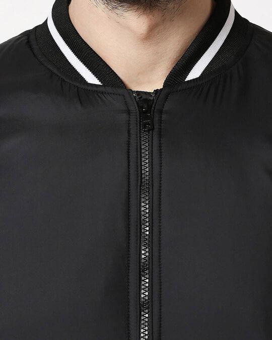 Shop Black Ultra Varsity Bomber Jacket