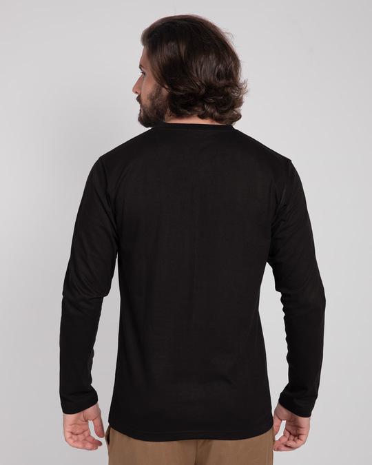 Shop Black V-Neck Full Sleeve T-Shirt-Design
