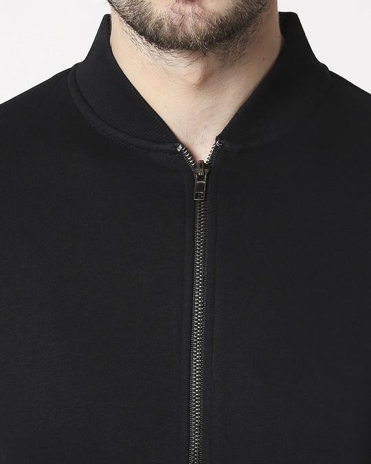 Shop Black Varsity Bomber Jacket