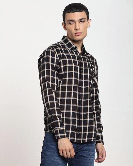 Shop Men's Checks Full Sleeve Pocket Shirt-Design