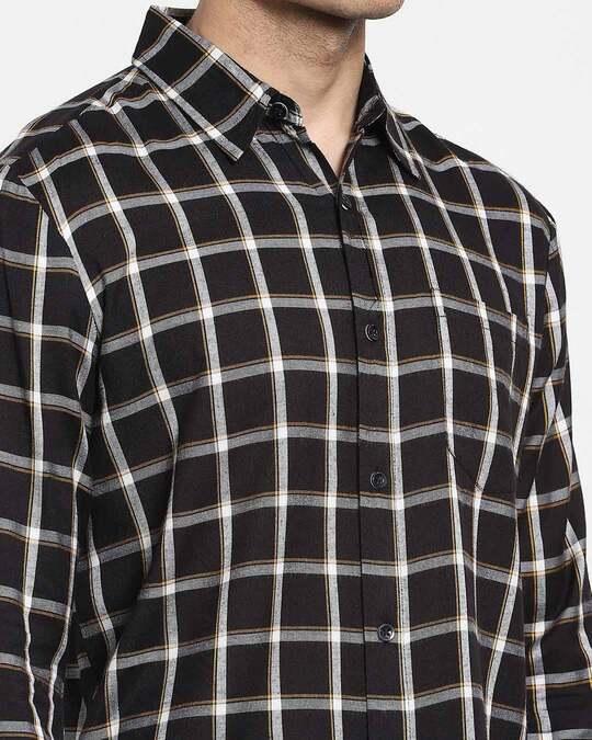 Shop Men's Checks Full Sleeve Pocket Shirt
