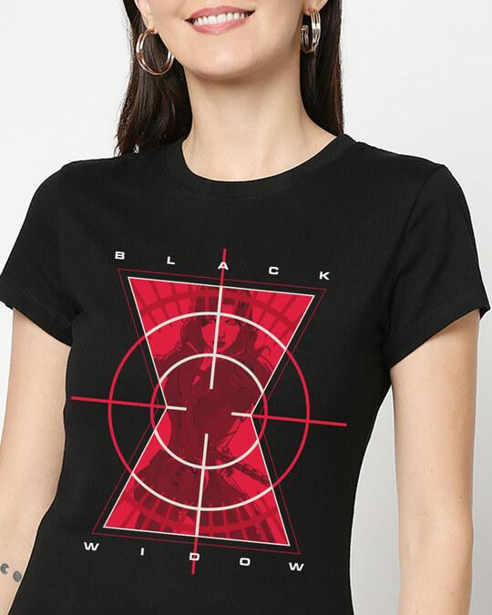 Shop Black Widow Target Half Sleeve T-Shirt-Front